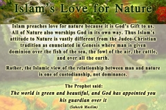 38-Islam's Love for Nature