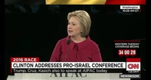 Hillary Clinton slams Donald Trump for 'bigotry' in front of pro-Israel lobby, AIPAC - LoneWolf